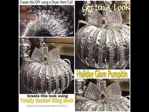 DIY Glam Vent Pumpkin