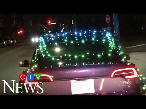 Tesla driver fined for having car lit up like Christmas tree