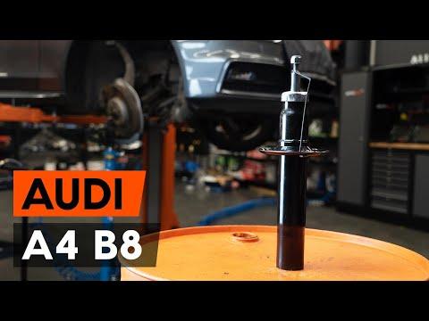 Как заменить стойку амортизатора передней подвески на Audi A4 B8 Седан [TUTORIAL AUTODOC]