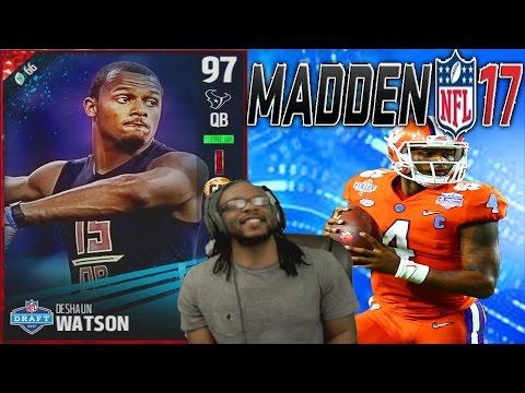 DESHAUN WATSON DESTROYS THE DEFENSE! - Madden 17 Ultimate Team Deshaun Watson Gameplay