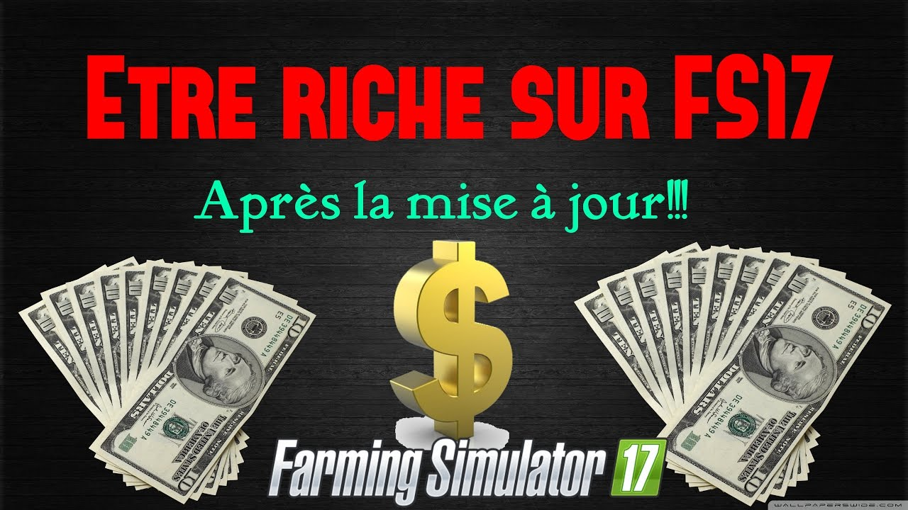 etre riche sur farming simulator 2017 ps4 apr s la mise jour k lian31 youtube. Black Bedroom Furniture Sets. Home Design Ideas