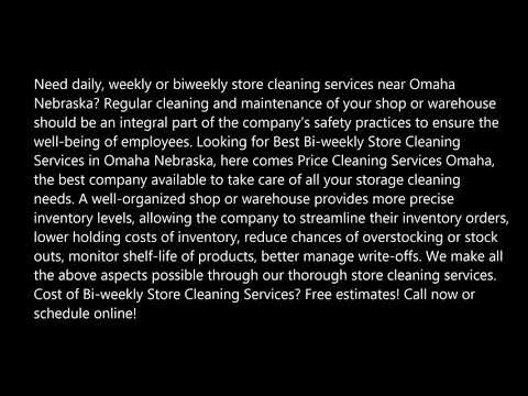 Bi weekly Store Cleaning Services in Omaha Nebraska Price Cleaning Services Omaha 402 575 9272