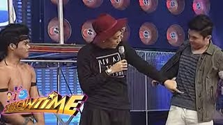 Vice Ganda and Vhong Navarro touches each others abs