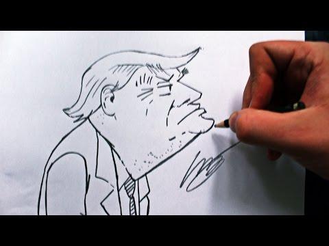 Como Desenhar Donald Trump How To Draw Donald Trump