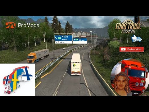 Euro Truck Simulator 2 (1.31) Scandinavia Mod ProMods map add-on v0.4 for 1.31.x + DLC's & Mods