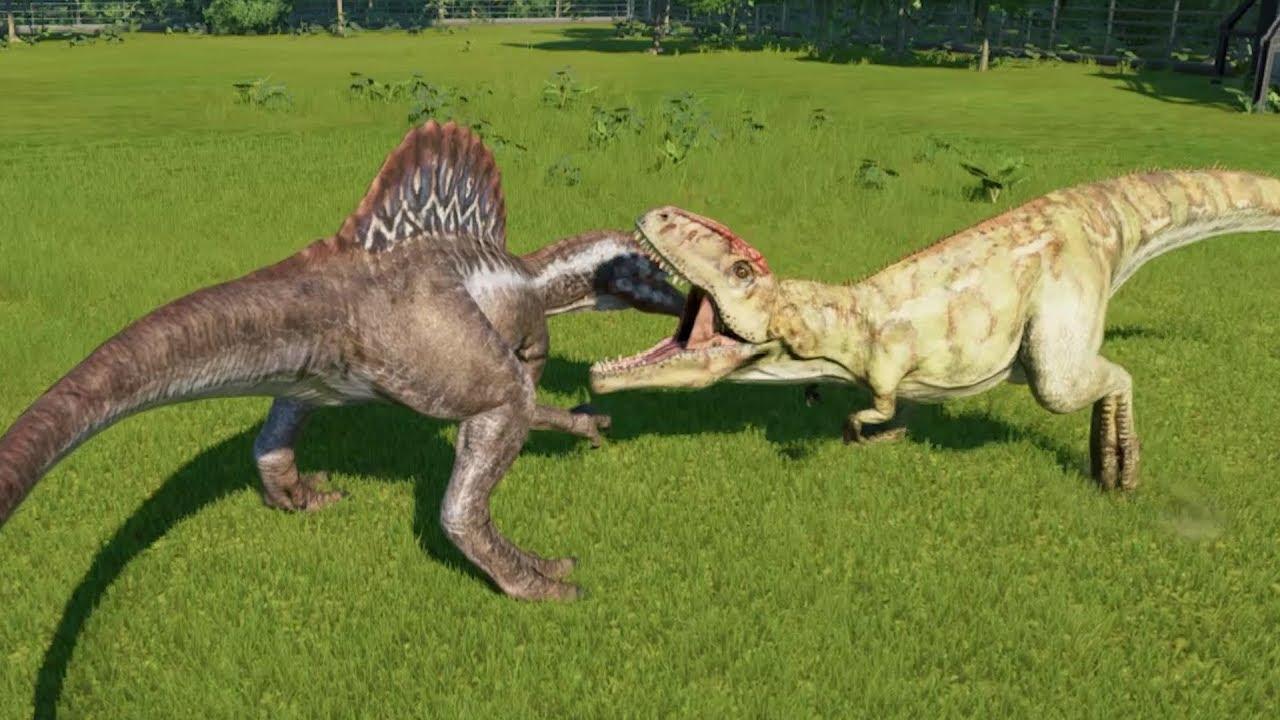 Spinosaurus VS 2 Giganotosaurus Update 1.6.2 - Jurassic ...Giganotosaurus Vs Spinosaurus