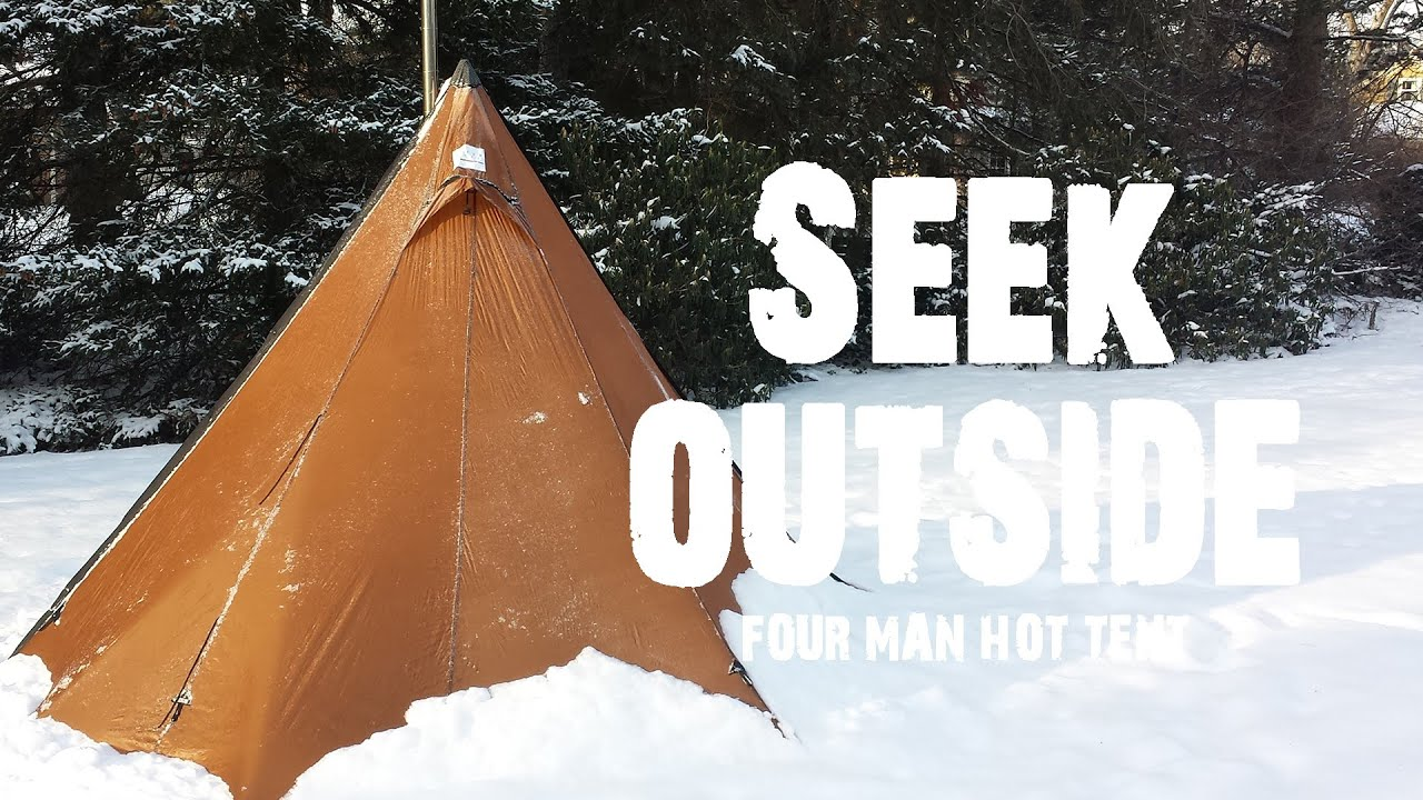 & Seek Outside 4-Man Hot Tent Tipi u0026 Stove Review - YouTube