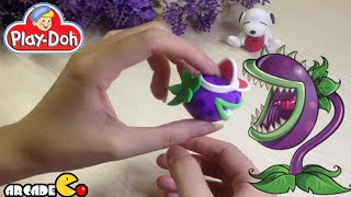 Play Doh Plants vs Zombies 2: Chomper - How to Make Chomper with Play Doh