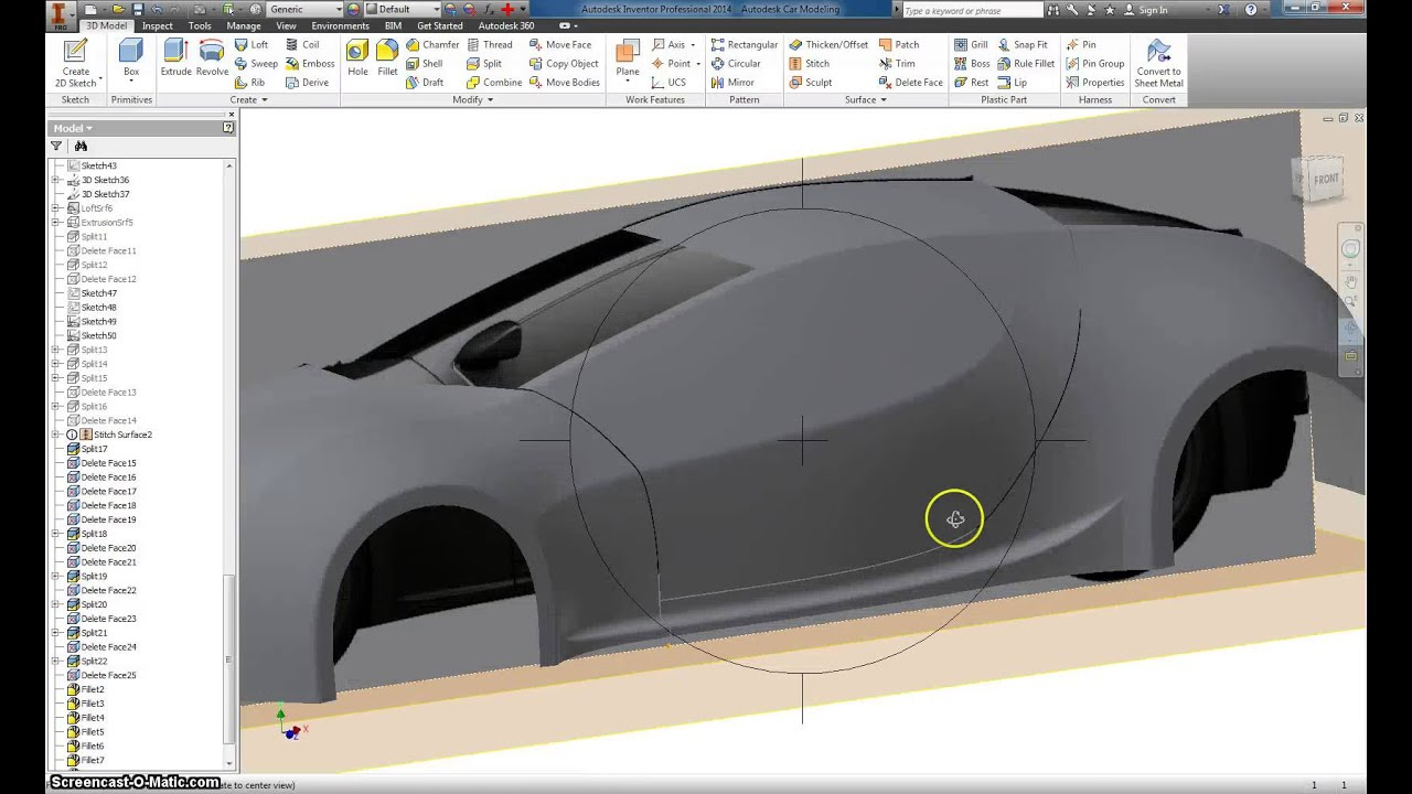 Autodesk Inventor Basic Car modeling Part 15 - YouTube