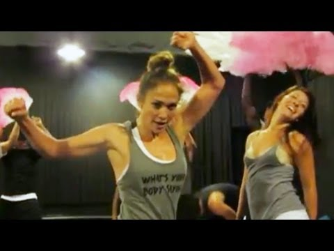 Jennifer Lopez on the Lets Get Loud Dance Number