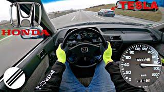 1985 honda accord CA5 2.0i ex top speed drive on german autobahn