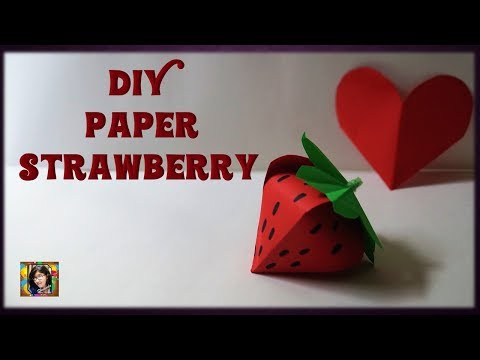 DIY Paper Strawberry || Paper Fruits || Easy Paper Strawberry || Easy Paper Gift