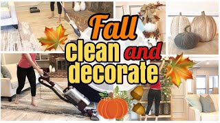 FALL CLEAN AND DECORATE WITH ME 2018 | EXTREME CLEANING MOTIVATION | ULTIMATE CLEAN WITH ME
