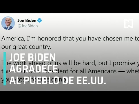 Estoy honrado de que me hayan elegido: Joe Biden - Sábados de Foro