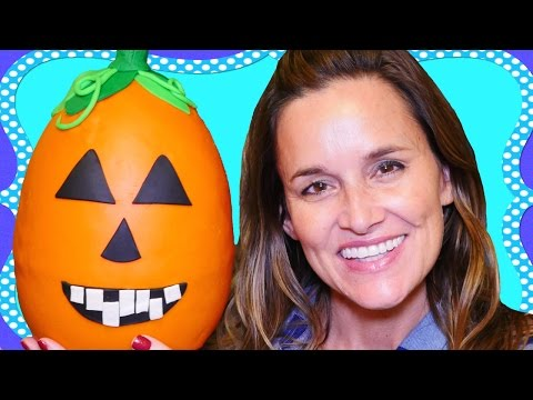 Huge, Giant Halloween Play Doh Pumpkin Surprise Egg Opening with MLP, Shopkins, Legos