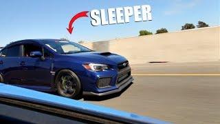 SLEEPER 800HP Subaru STI Vs. 800HP EVO X! ( Comparison )
