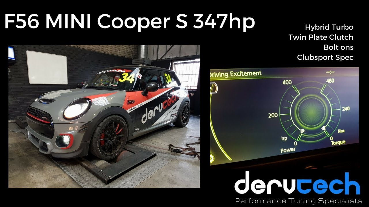 347hp f56 mini cooper s 2 0t by dervtech tuning youtube. Black Bedroom Furniture Sets. Home Design Ideas