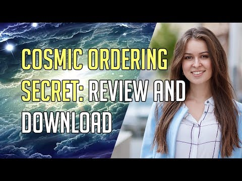 Cosmic Ordering Secret | The Law of Attraction Technique which makes the difference