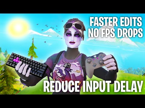 How To *REDUCE* Input Delay In Fortnite And Fix FPS Stutters Guide (CONTROLLER And KEYBOARD) 0 DELAY