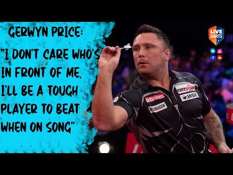 """Gerwyn Price: """"I don't care who's in front of me, I'll be a tough player to beat when on song"""""""