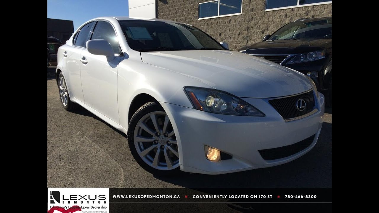 Pre Owned White 2008 Lexus IS 350 Review | Vegreville Alberta