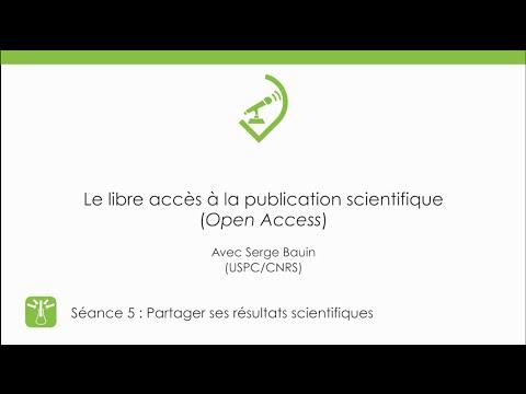 Le libre accès à la publication scientifique MOOCSciNum-S5
