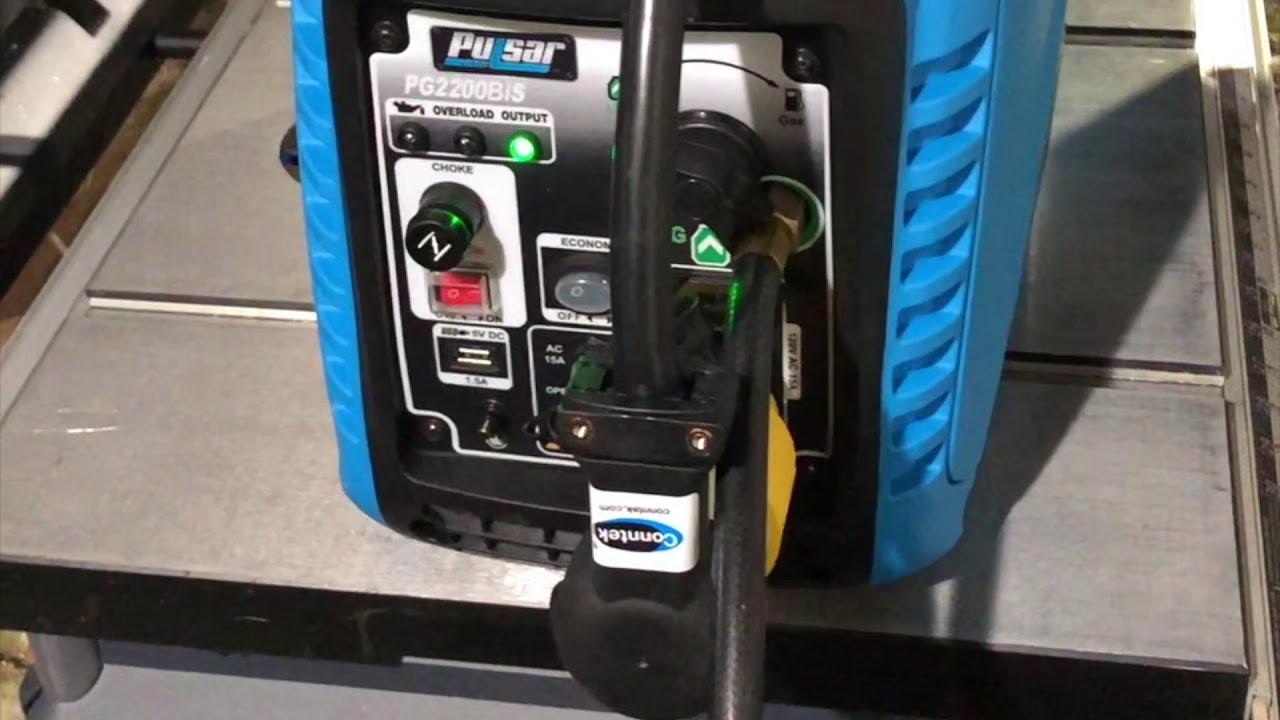Pulsar Dual Fuel Inverter Generator PG2200BiS/Micro-Air EasyStart Running  Dometic 13,500btu RV A/C