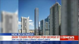 Nine News Sydney: 264 Metre Highrise Tower Proposed For George Street (27/11/2014)