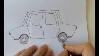 Araba Resmi Nasıl Çizilir - Easy drawing pictures 轻松绘制图片