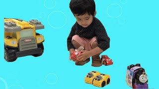Colorful Toys, Lego Racing Car, Dump Truck at Target to Taco Bell.