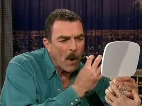 Conan O'Brien 'Tom Selleck Mustache 52004