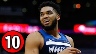 Karl-anthony towns - top 10 plays of rookie season (2015-16)