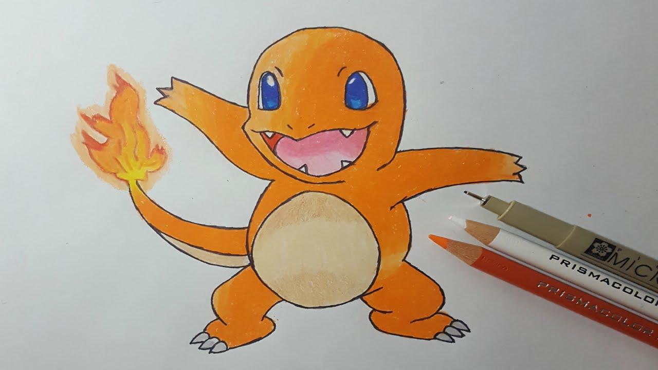 Dibujos Para Colorear De Charmander: Cómo Dibujar A CHARMANDER (POKÉMON GO)/ How To Draw