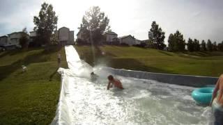 Gopro Hd Hero 2 - Massive Slip N' Slide [plus Homemade Pool] 2011