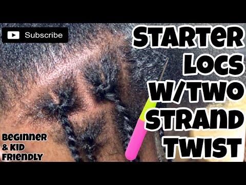 STARTER LOCS TUTORIAL TWO STRAND TWIST + 3 MONTH UPDATE & 1ST RETWIST | LOC JOURNEY