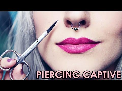 Como colocar Piercing Captive / Meu Piercing no Septo