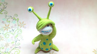Litlle monster costume/ Disfarce de monstrinho - Polymer clay (Fimo)