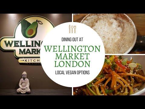WHAT VEGANS EAT FOR DINNER AT WELLINGTON MARKET | LONDON ONTARIO | VEGAN OPTIONS
