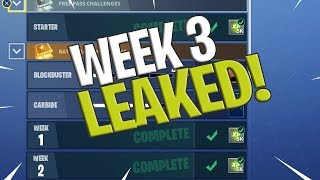 Fortnite Week 3 Challenges LEAKED! Fortnite Season 4 Battle Pass Weak 2 ALL CHALLENGES!