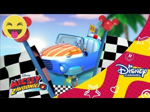 Mickey a závodnící - Zcestují celý svět - interaktivní video! Pouze na Disney Channel!
