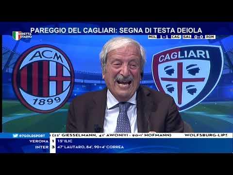 Milan Cagliari 4-1 con Tiziano Crudeli