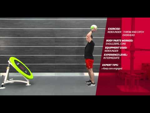 Fitness First Freestyle exercise - Rebounder Throw and Catch Overhead - Medicine Ball