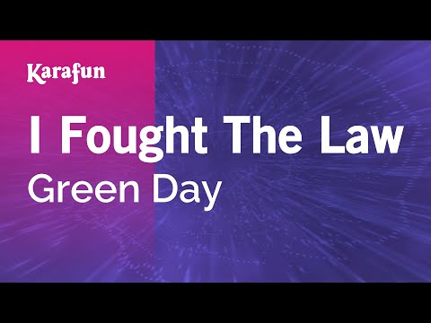Karaoke I Fought The Law - Green Day *