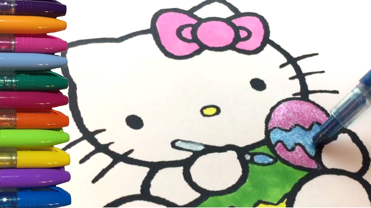 Hello Kitty Coloring Pages | Easter Egg Time!! - YouTube