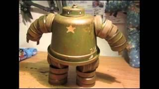 Роботы.  Поделки для детей из пластиковых бутылок