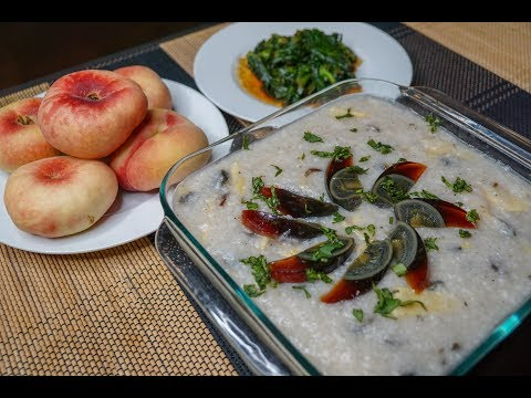 How to Make Century Egg Winter Bamboo Shoots Congee | Chines