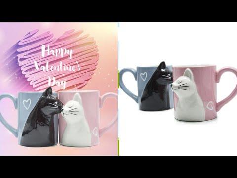 Cute Cat Couple Mugs