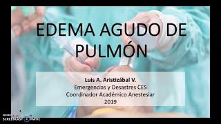 Pulmonar del edema pronóstico rápido