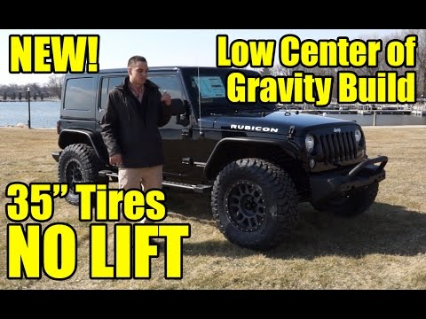 "35"" TIRES, NO LIFT!  The latest Custom 2017 Jeep Wrangler with our Low Center of Gravity Build!"
