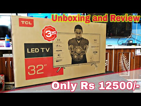 TCL 32 inch LED TV || model 32G300 || Unboxing and Review ||